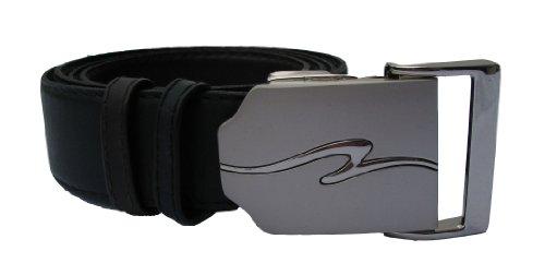 Herrengürtel aus Leder mit Automatikschließe - Ledergürtel in schwarz und dunkel braun als Wendegürtel, stufenlos einstellbar - Gürtel für Herren mit Anzug / Jeans - Überlänge