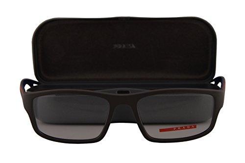 Prada Männer PS09GV Brillen 53-18-140 w/Demo-Raum-Objektiv UR41O1 VPS09G Brown Rubber groß