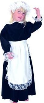 Viktorianisches Mädchen-Kostüm Stubenmädchen Größe Medium, 7- bis (Kostüme Sieben Von Neun)
