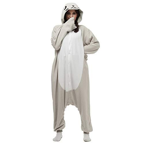 YLOVOW Unisex Adult Pajamas-Plüsch EIN Stück Cosplay Tierkostüm Kapuzen Jumpsuit (Onesies Kleidung + Klauen Slipper),2,M