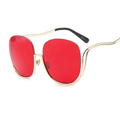 Sonnenbrillen. Sonnenbrille Frauen Luxusmarke Designer Oversized Runde Sonnenbrille Damen Gradient Schattierungen Klar Brillen Outdoor Reisen Sommer Staub Uv400 Klar Rot