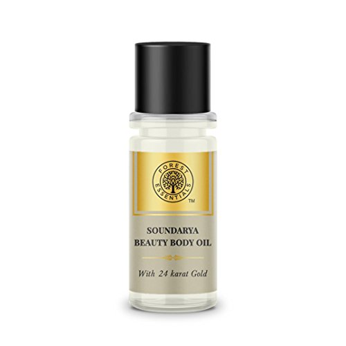 Forest Essentials Soundarya Beauty Body Oil with 24K Gold, 25ml
