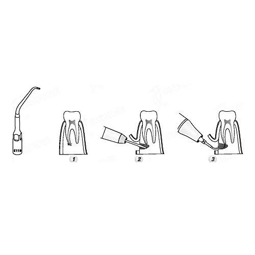 Supershu Endodontische Einsätze EMS kompatibel E11D, 5 Stück