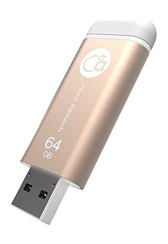 Element Teil (Adam Elements iKlips Lightning Anschluss (MFI-Zertifiziert) OTG Flash Flash-Speicher Laufwerk Speicherstick Datenspeicher Flash Drive Speichererweiterung USB 3.0 64GB für Apple iPad iphone PC Mac HK656)