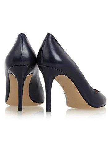 EDEFS - Escarpins Femme - Chaussures à Talons Hauts - Bout Pointu fermé - Classique Bureau Soiree Marin