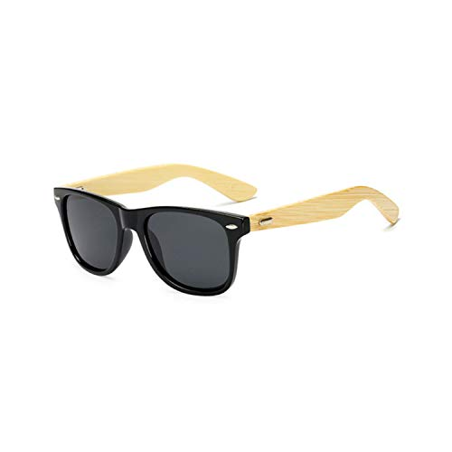 Sportbrillen, Angeln Golfbrille,Bamboo Sunglasses For Men Women Spectacles Vintage Wood Sun Glasses Male Wooden Legs Glasses as picture Black Blue