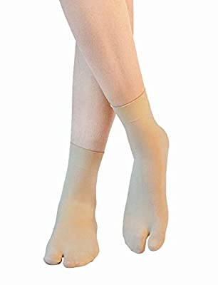 Simon Women's & Girls (3 Pairs Pack) Skin Color Premium Sun Protection Nylon Ankle Thumb Socks