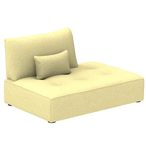 Alkove Elvas - Modulares Sofa, Chaiselonge-Modul mit Stauraum und extra Kissen, 145x100cm, Lime -