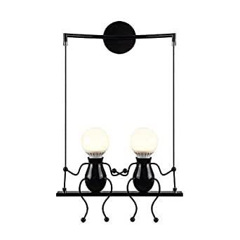 Create for Life® Applique Bambini,Applique da bagno vintage,Lampada da parete E27 Applique da parete interni,Lampada da parete dell'annata LED per barra, stanza dei bambini