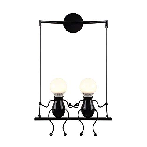 Wandleuchte Wandlampe modern Design Wandbeleuchtung Eisen für Bar, Kinderzimmer, Flur