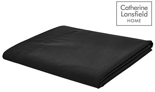 Lenzuolo in tinta unita, colore nero, nero, letto singolo