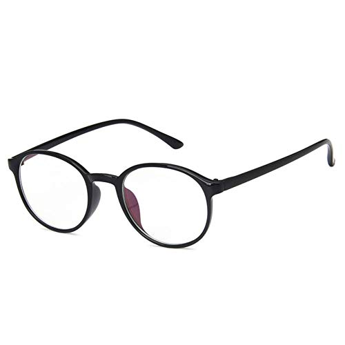 YHEGV Vintage Oval Klarglas Rahmen Für Frauen Klar Rahmen Runde Brillen Weibliche Kunststoff Transparent Optische Brillengestell