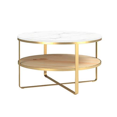 2 Tier Marmor Couchtisch Sofa Tisch mit Ablage Regale Akzent Tisch mit Ablage for Wohnzimmer Nesting Beistelltische Mitte Jahrhundert Moderne Gold Ende Beistelltisch Akzent Sofa Tisch Gold -