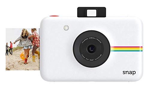 Foto Polaroid Fotocamera Digitale a Scatto Istantaneo  con Tecnologia Di Stampa a Zero Inchiostro Zink, Bianco