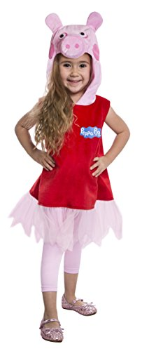 Peppa Pig Deluxe Toddler Costume Dress, 3-4T