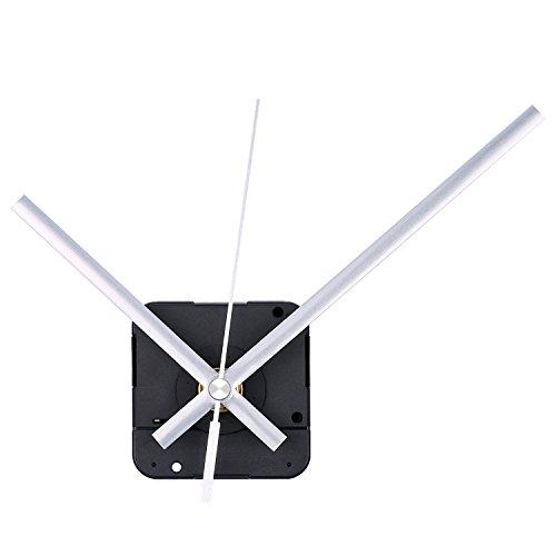 Lange Spindel Quarz Uhrwerk, Maximale Zifferblatte von 1/2Zolldick,Gesamtschaftlänge von 9/10 Zoll (Silbern) -