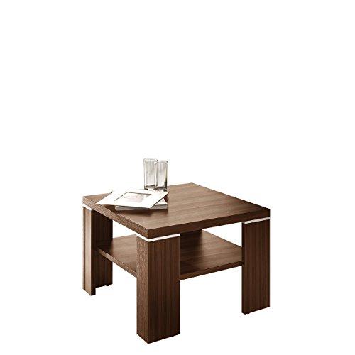 Mirjan24  Couchtisch Santana 60x60 cm, Stylischer Kaffeetisch, Sofatisch mit Ablagefach, Wohnzimmertisch, Beistelltisch Modern Stilvoll (Pflaume Wallis)