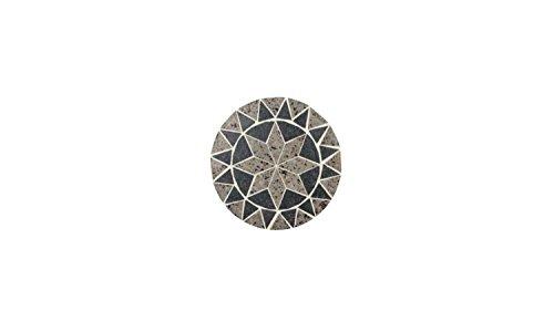 Lifestyle For Home Blumenhocker 3-Satz Tisch Set Metall mit geschwungenen Beinen und Mosaik