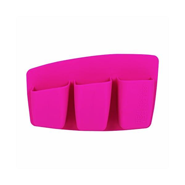 Real Techniques 3 pocket expert organizer-pink – soporte con 3 compartimentos rosa   280 g