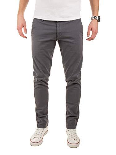 Yazubi Chino Hosen für Herren - Merlin II by Yzb Jeans Slim fit - Graue Business Chinohosen Casual mit Stretch, Grau (Grey 1003), W30/L32 -