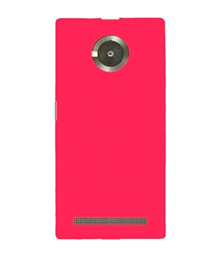 WOW Imagine(TM) Rubberised Matte Hard Case Back Cover For Micromax YU YUPHORIA (Pink)