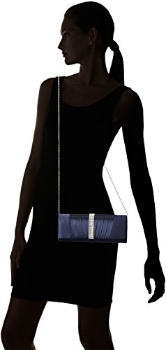 Damara Elegant Strass Falten Damen Clutch Abendtasche,Marine Blau Marine Blau