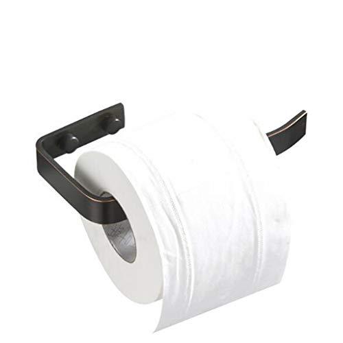 MCL 17cm Langer Schwarzer Papierhandtuchhalter, Schwarzes Badezimmerhandtuchhalter, Europäisches Badezimmermessingschwarzes Altes Papierrollenhalter Toilettenpapierkasten