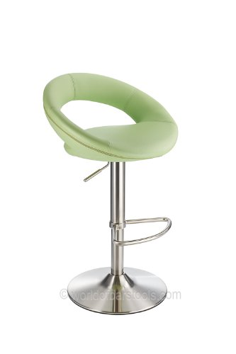 Sorrento Brushed Kitchen Bar Stool Green