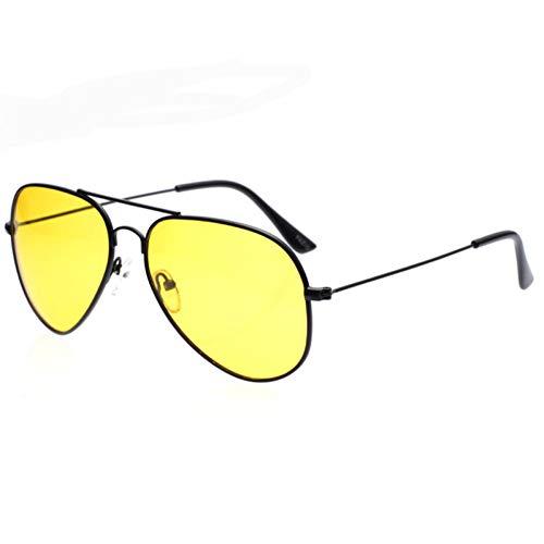 ZHANGTYJ Sonnenbrillen Pilot Nachtsicht Sonnenbrille Männer Frauen Brille Brille Legierung Sonnenbrille Für Frauen Männer Fahrer Nacht Fahren Eyewear