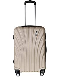 Americano Challenger Hard-Sided Polypropylene Cabin Luggage Beige 20 Inch Trolley