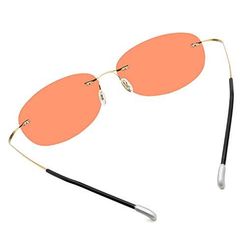 Tclothing Ultraleichte Randlose Reine Titan-bunte Mode Polarisierte Sonnenbrille für Männer und Frauen