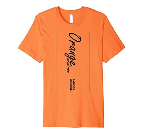 Orange Textmarker Stil Halloween-Kostüm T-Shirt