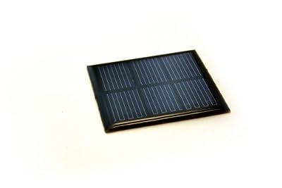 Solarzelle 1,5V 250mAh Solar Solarmodul 6cm x 6cm Mini Kleine Hobby Zelle