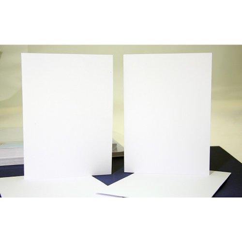 50tarjetas y sobres, color blanco, 10,16 x 10,16 cm, Crafts UK, cartón, Blanco, 35/50 mm