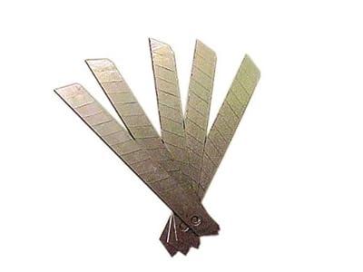 10 Abrechklingen Fr Cuttermesser 18 Mm von Work Plus