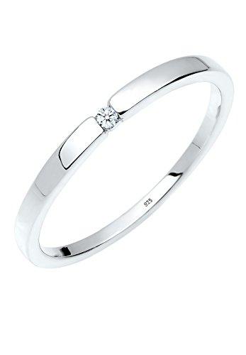 Diamore - Bague Femme - Argent 925/1000 Diamant Rond