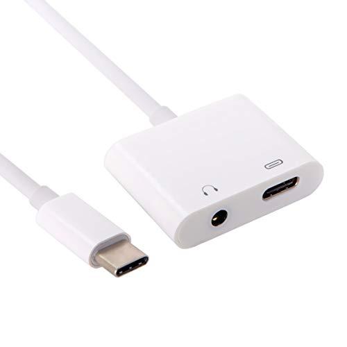 Preisvergleich Produktbild Cablecc USB-C auf 3, 5 mm Kopfhörer AUX Audio & Typ-C Buchse Combo Adapter für Handy Tablet