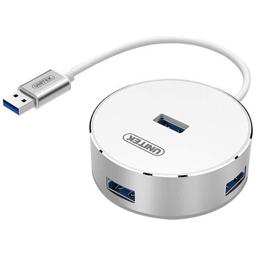 Unitek Y-3197WH 4X USB 3.0 Hub Aluminium Schwarz - 4 0 Aluminium-draht
