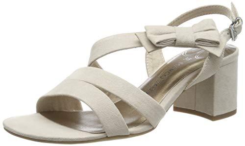 MARCO TOZZI 2-2-28300-22, Sandali con Cinturino alla Caviglia Donna, Beige (Dune 404), 37 EU
