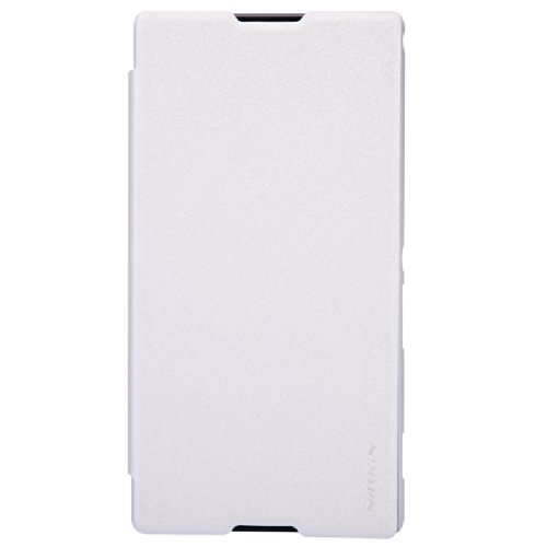 Nillkin Sparkle Leather Flip Stand Bumper Back Case Cover For Sony Xperia T2 Ultra (White)  available at amazon for Rs.499