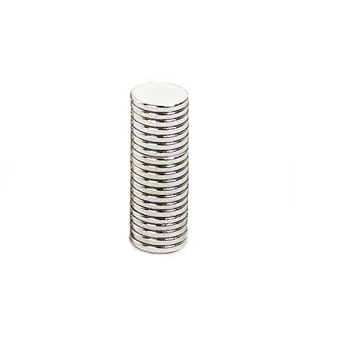 20 Mini Magnete, ultrastark - 7x1mm - NEODYM - Das Original - Oblique-Unique®