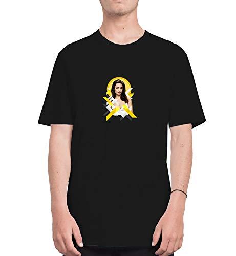 Angelina Jolie Sexy Look Actress Hollywood Pop Art_CFS0269 Tshirt T-Shirt Shirt Men Herren Man Für Männer Men's White 2XL - Hollywood Womens Long Sleeve