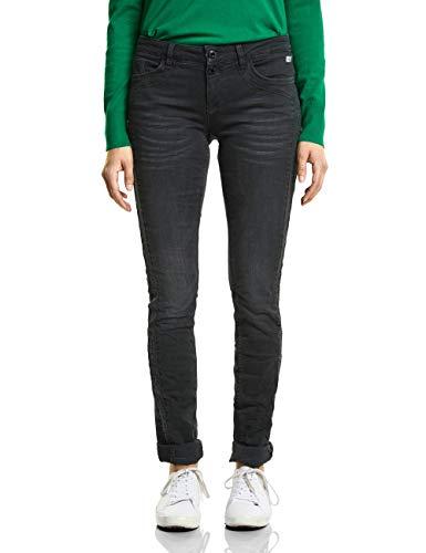 Street One Damen 371753 Crissi Slim Jeans, Balck Denim Stone wash, W26/L30 (Herstellergröße: 26)