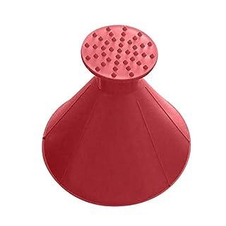 Bukm Unisex-Adult wr Eiskratzer Auto Kratzen A Round Magic Cone für Autos langlebiger und Stabiler Profi Eisschaber Windshield Ice Scraper Schneeschaufelwerkzeug, Rot l
