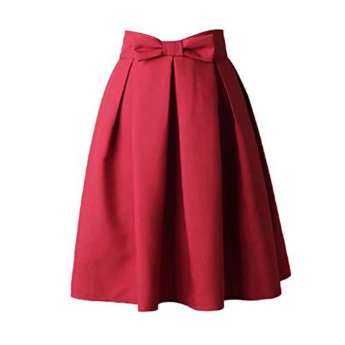 PinkLu Röcke Damen Rock Bogen Plissee Tutu EuropäIscher Und Amerikanischer Stil Hohe Taille Schlank Wild FrüHling Und Sommer HeißEr 5-Farbiger Rock