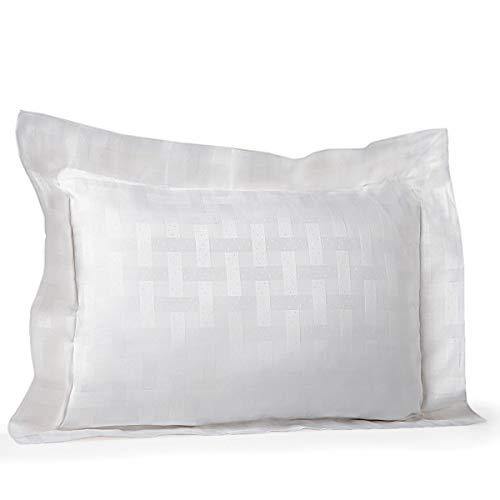 Pratesi Portofino Jacquard Standard-Kissenbezug, ägyptische Baumwolle, Weiß -