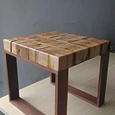 Mesa madera roble auxiliar salón