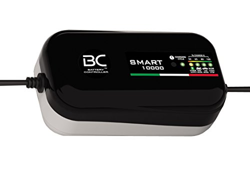 BC SMART 10000 Caricabatterie e mantenitore di carica a 8 cicli di ricarica, (Power Supply 10 Amp)