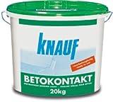 Knauf 4006379043194 Betokontakt, gebrauchsfertige Grundierung für Beton, verbessert die Haftung von Putzen, vor dem Auftragen von Gips-, Gipsdünn- und Gipskalkputzen, Rosa, 5 kg