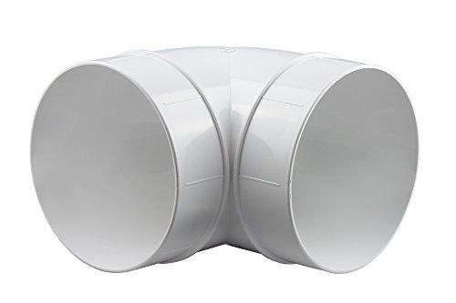 Bogen 90° Lüftungsrohr ABS Rundrohr Ø 125 Abluft-Rohr Awenta 125 mm , PVC